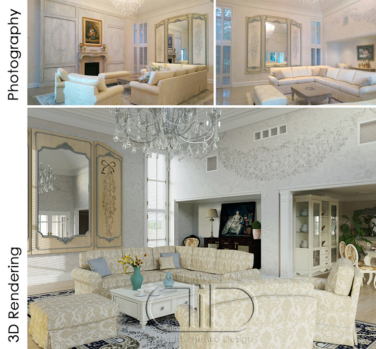 Interior Design and Rendering by Design Studio AiD Classic Marble
