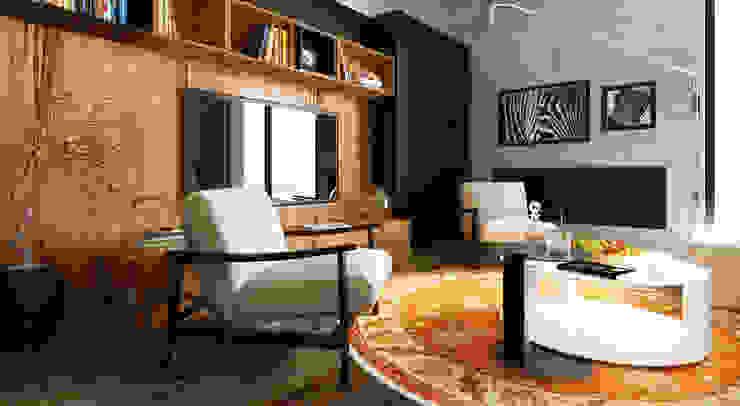 Ruang Keluarga oleh Design Studio AiD, Modern Kayu Buatan Transparent