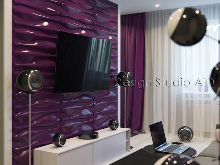 Interior Design and Rendering Modern living room by Design Studio AiD Modern Plastic