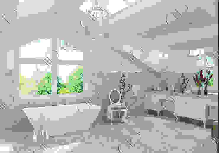 Interior Design and Rendering Classic style bathroom by Design Studio AiD Classic Ceramic