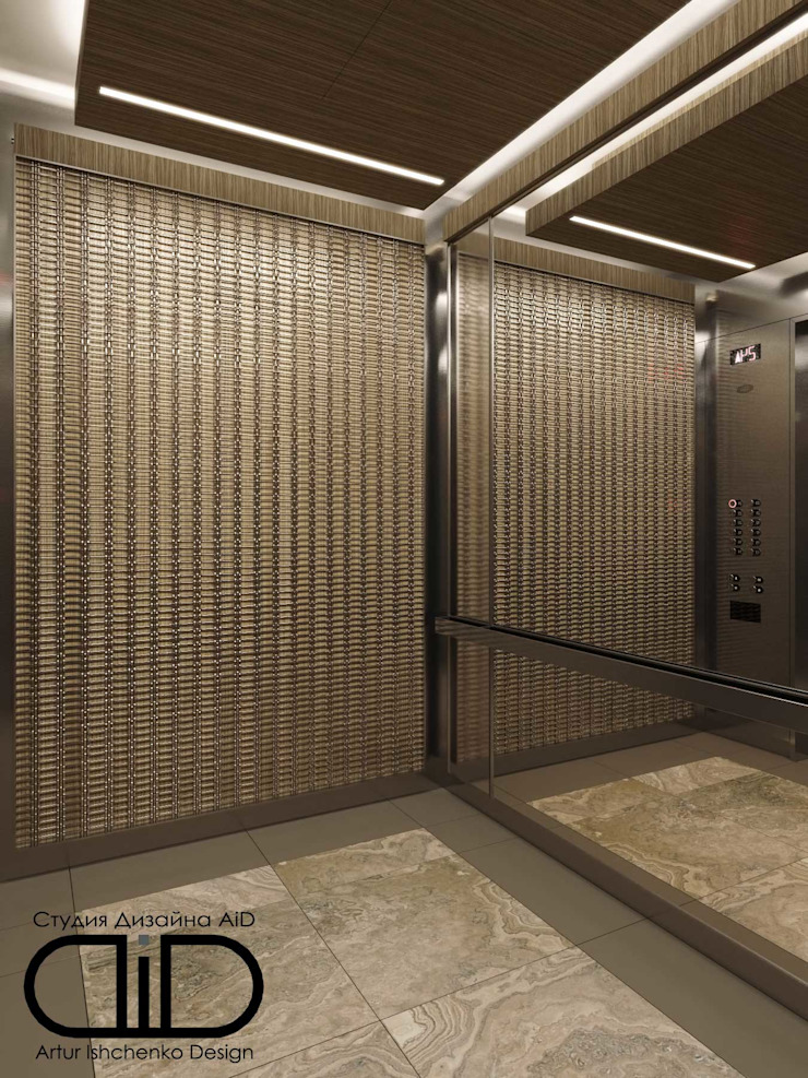 Interior Design and Rendering Modern Corridor, Hallway and Staircase by Design Studio AiD Modern Marble