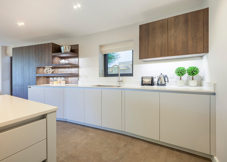 WESTMINSTER RD, BRANKSOME. DORSET - KITCHEN 根據 Jigsaw Interior Architecture