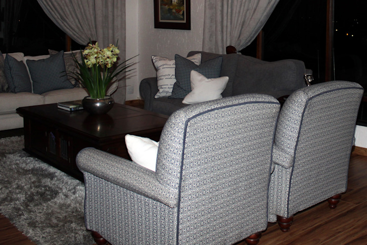 Reupholstered Armchairs: classic  by Inside Out Interiors, Classic