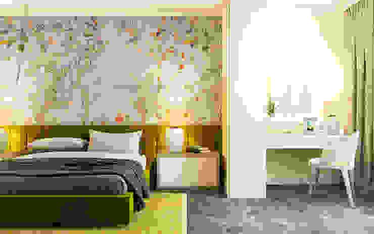 Chambre de style  par Zikzak architects, Moderne