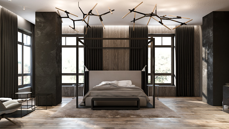 homify Industrial style bedroom Grey