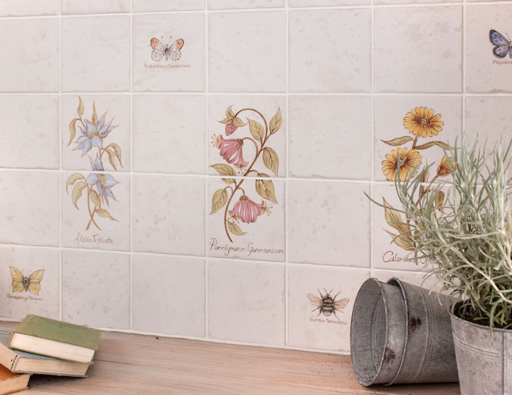 Sorrento Botanical: country  by Decorum Tiles, Country