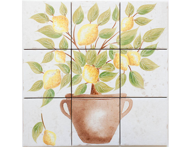 Lemon Tree Hand Painted Tiles: country  by Decorum Tiles, Country