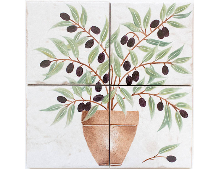 Olive Tree Hand Painted Tiles: country  by Decorum Tiles, Country