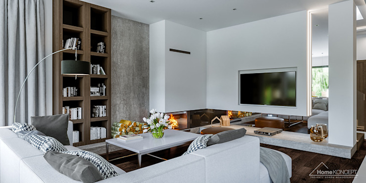 Дома в стиле модерн от HomeKONCEPT | Projekty Domów Nowoczesnych Модерн