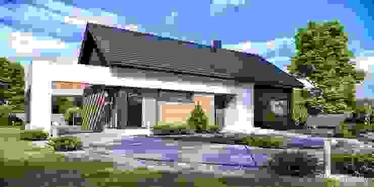 Modern houses by HomeKONCEPT | Projekty Domów Nowoczesnych Modern