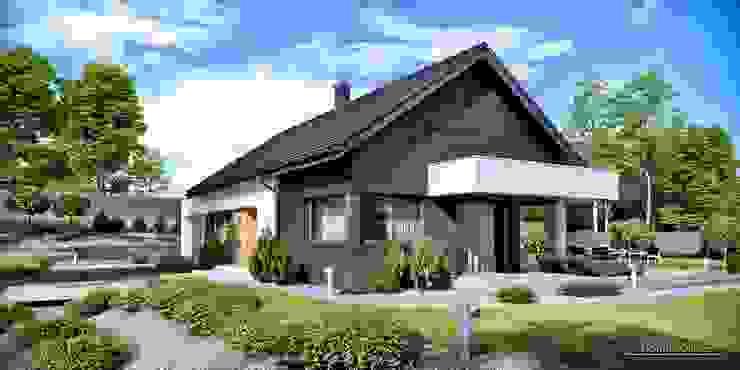Projekt domu HomeKONCEPT 44 od HomeKONCEPT | Projekty Domów Nowoczesnych Nowoczesny
