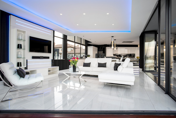 ULTRA MODERN RESIDENCE FRANCOIS MARAIS ARCHITECTS Modern living room