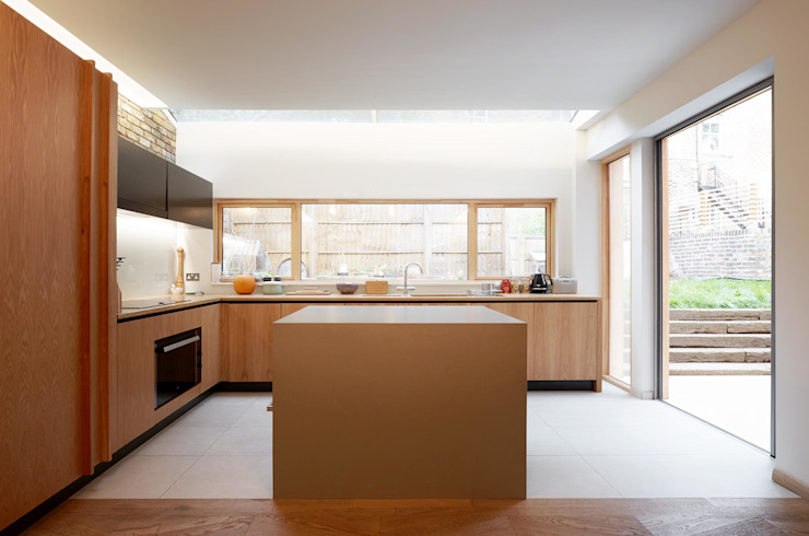 Private Residence - Scoble Place, London Modern Kitchen by Designcubed Modern Wood Wood effect
