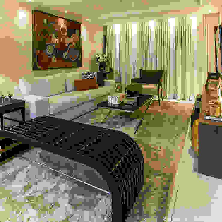 Colonial style living room by Cris Nunes Arquiteta Colonial