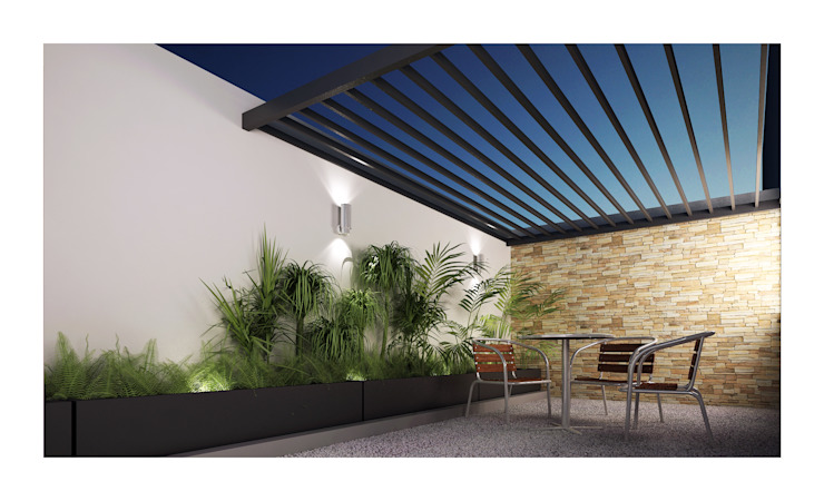 Balkon, Beranda & Teras Minimalis Oleh DAR Arquitectos Minimalis
