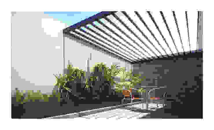 Terraza Cervantes Balcones y terrazas minimalistas de DAR Arquitectos Minimalista