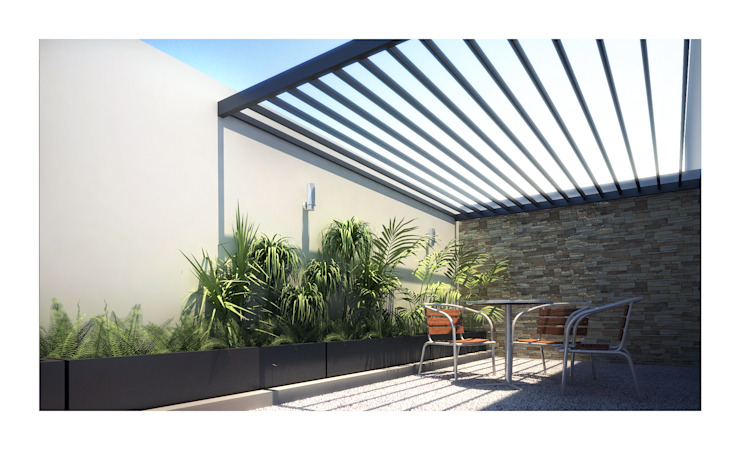 minimalist style balcony, porch & terrace by DAR Arquitectos Minimalist