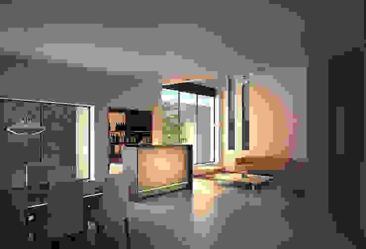 Casa Lázaro Salones minimalistas de DAR Arquitectos Minimalista