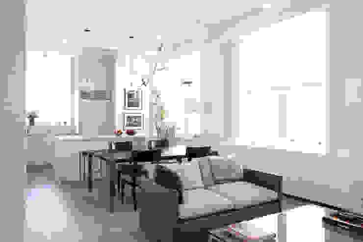 Chelsea Loft Modern Living Room by Maletz Design Modern
