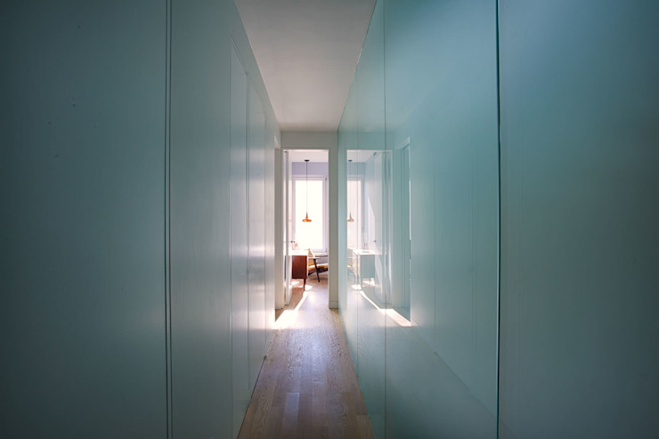 Passive in Park Slope Modern Corridor, Hallway and Staircase by Sarah Jefferys Design Modern