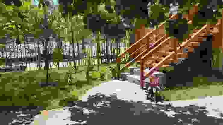 Koridor & Tangga Gaya Rustic Oleh Cervantesbueno arquitectos Rustic Batu