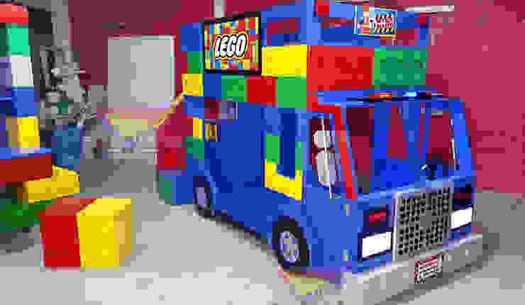 Fabuloso Camion tipo Lego de Kids Wolrd- Recamaras Literas y Muebles para niños Moderno Derivados de madera Transparente