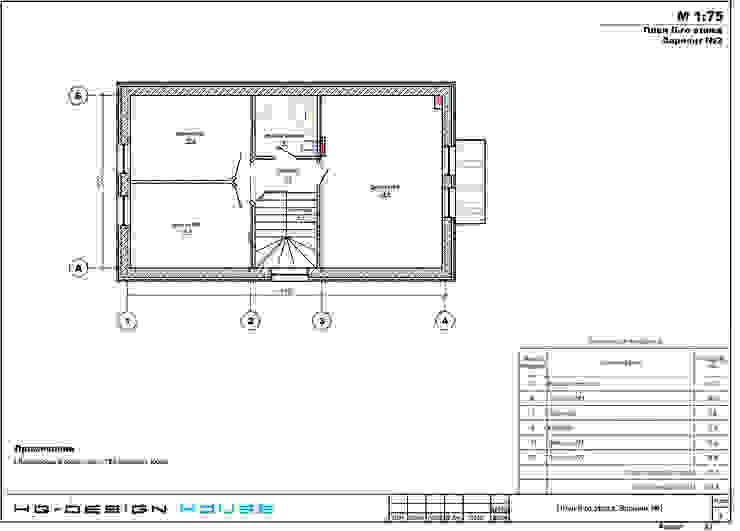 План 2-го этажа Дома в классическом стиле от hq-design Классический