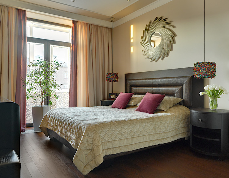 Marina Pennie Design&Art Eclectic style bedroom Beige