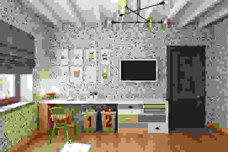 Дизайн студия Алёны Чекалиной Phòng trẻ em phong cách đồng quê