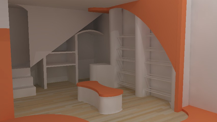 Render de proyecto Oficinas y tiendas de estilo moderno de Sml Design Moderno