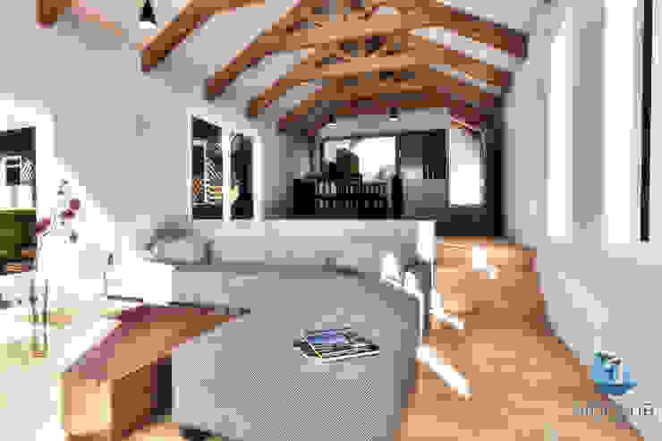 Living Livings de estilo moderno de NidoSur Arquitectos - Valdivia Moderno