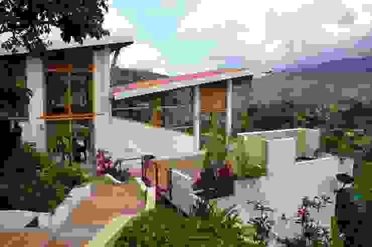 Acceso peatonal Puertas y ventanas de estilo moderno de Zuarq. Arquitectos SAS Moderno Bambú Verde