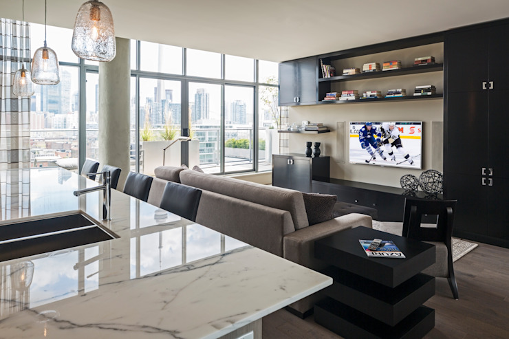 Penthouse Condo Modern Kitchen by Collage Designs Modern Marble