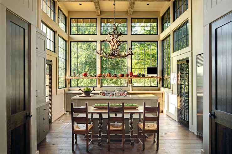 Country style kitchen by Jeffrey Dungan Architects Country Glass
