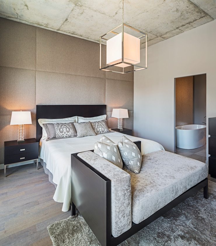Penthouse Master Modern Bedroom by Collage Designs Modern Wood Wood effect