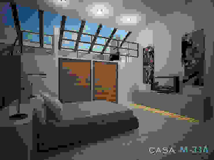 Diseño de recámara Dormitorios modernos de Constructora Asvial - Desarrollador Inmobiliario Moderno Concreto