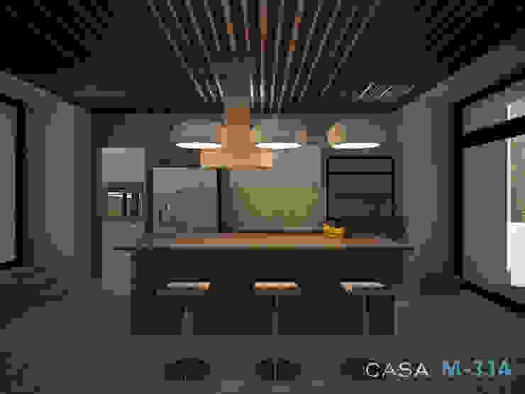 Diseño de cocina Cocinas modernas de Constructora Asvial - Desarrollador Inmobiliario Moderno Madera Acabado en madera