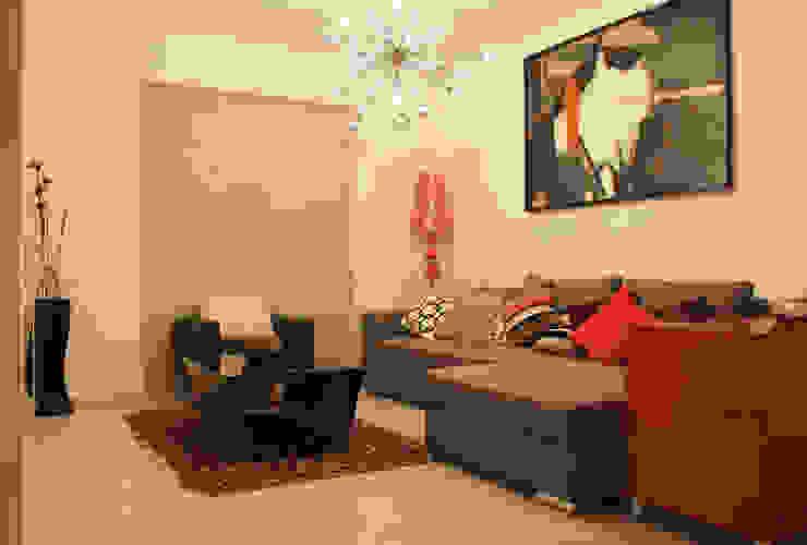 Diseño interior Sala 1: Salas de estilo  por Constructora Asvial - Desarrollador Inmobiliario