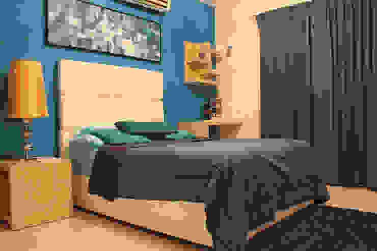 Diseño interior Recámara 1 de Constructora Asvial - Desarrollador Inmobiliario Moderno Compuestos de madera y plástico