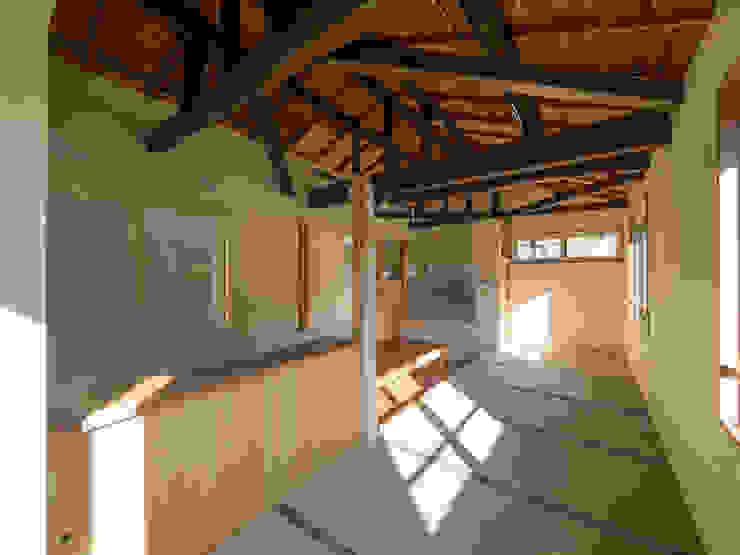 小上りのリビング・ダイニング 株式会社エキップ ラスティックデザインの リビング 木 木目調