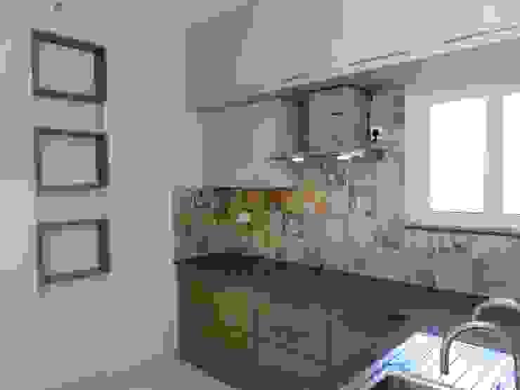 shelves in kitchen Modern kitchen by Bluebell Interiors Modern Plywood
