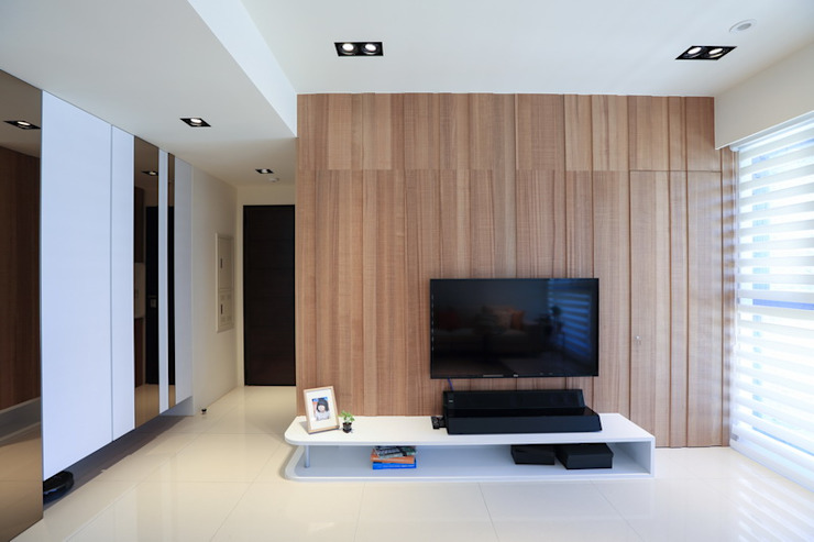 有溫度的木意居家生活 现代客厅設計點子、靈感 & 圖片 根據 微自然室內裝修設計有限公司 現代風
