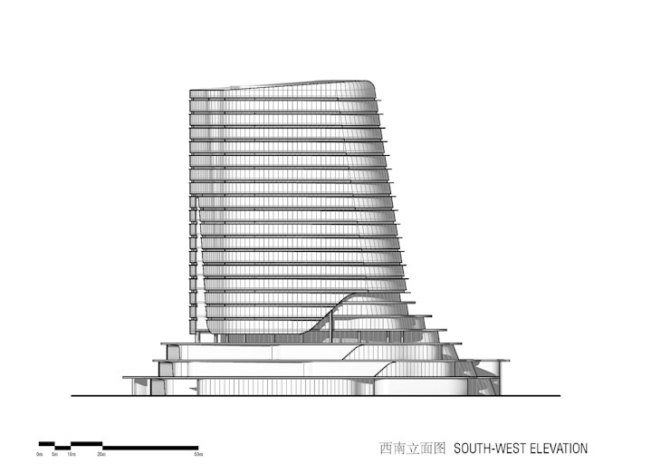 Gemdale Changshou Road, Shanghai, China, designed by Andrew Bromberg at Aedas by Architecture by Aedas Modern