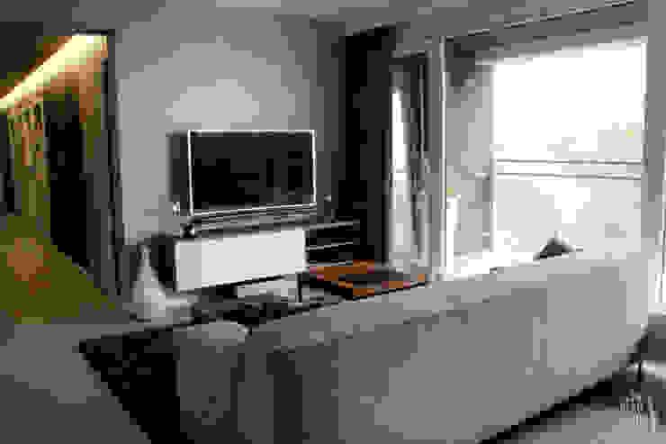 POZNAŃ | Apartament Nowoczesny salon od dekoratorka.pl Nowoczesny