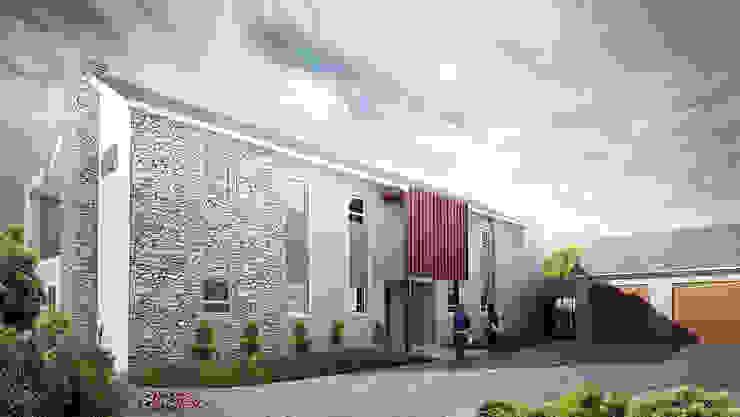 by Urban Habitat Architects Сучасний Камінь