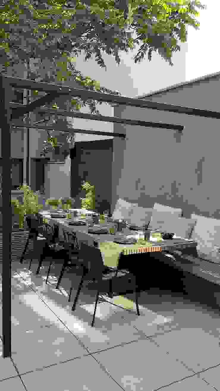 New concept city terras Minimalistische balkons, veranda's en terrassen van Lento Interiors Minimalistisch