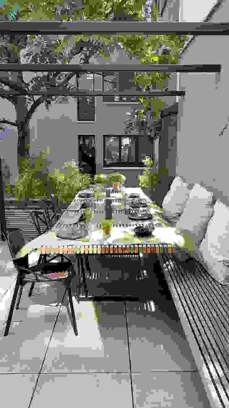 New concept city terras Moderne balkons, veranda's en terrassen van Lento Interiors Modern