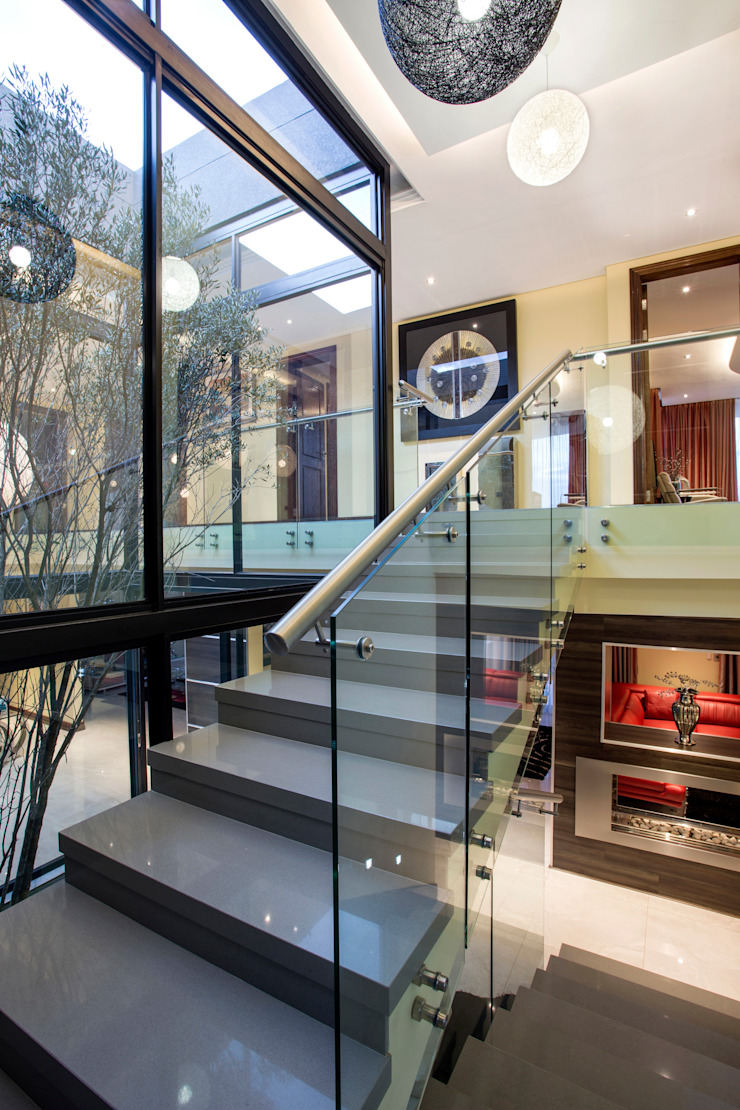 Residence Harris Modern Corridor, Hallway and Staircase by FRANCOIS MARAIS ARCHITECTS Modern