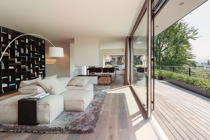 Ruang Keluarga Modern Oleh meier architekten zürich Modern