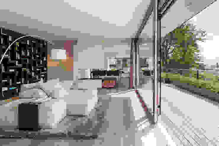 meier architekten zürich 现代客厅設計點子、靈感 & 圖片 White